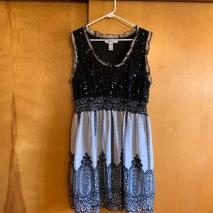 Cute dress with sparkly top